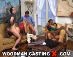 Brenda Logan & Bettina Campbell   Bts   Dp On Sofa With 3 Men