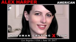 Download Alex Harper casting video files. A American girl, Alex Harper will have sex with Pierre Woodman.