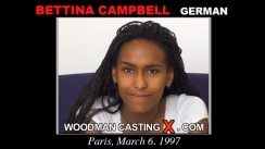 Watch Bettina Campbell first XXX video. A German girl, Bettina Campbell will have sex with Pierre Woodman.