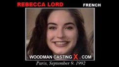 Watch Rebecca Lord first XXX video. Pierre Woodman undress Rebecca Lord, a French girl.