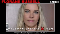 Look at Florane Russell  getting her porn audition. Pierre Woodman fuck Florane Russell , Czech girl, in this video.