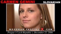 Casting of CARMEN GEMINI video