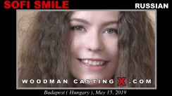 Access Sofi Smile casting in streaming. A Russian girl, Sofi Smile will have sex with Pierre Woodman.