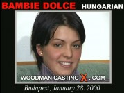 See the audition of Bambie Dolce
