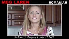 Casting of MEG LAREN video