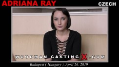 Download Adriana Ray casting video files. A Czech girl, Adriana Ray will have sex with Pierre Woodman.