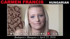 Casting of CARMEN FRANCIS video