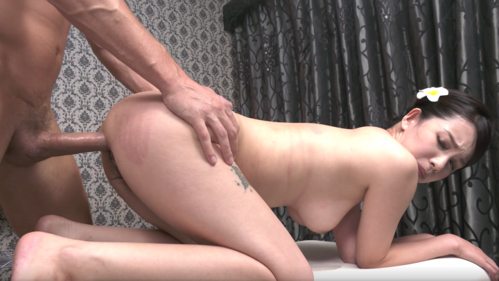 Mina Asahi:Oil Massage-Interracial Creampie!
