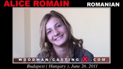 Casting of ALICE ROMAIN video
