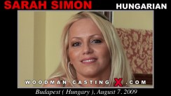 Casting of SARAH SIMON video