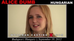 Casting of ALICE DUMB video