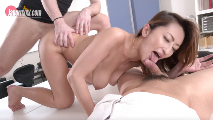 Mio Shido : Office Worker-Interracial Threesome!