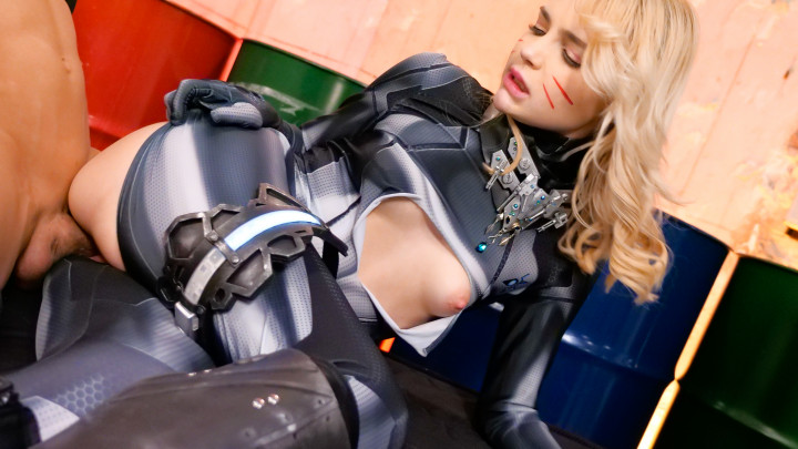Lika Star : Sex Cyborg-Sword Action & Interracial Creampie!