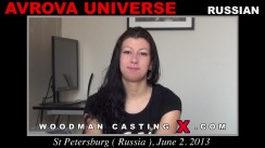 Casting of AVROVA UNIVERSE video