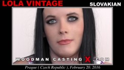 Casting of LOLA VINTAGE video