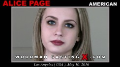 Casting of ALICE PAGE video